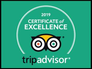 TripAdvisor 2019 Certificate
