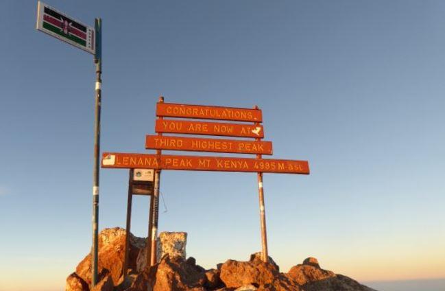 Mount Kenya Lenana peak