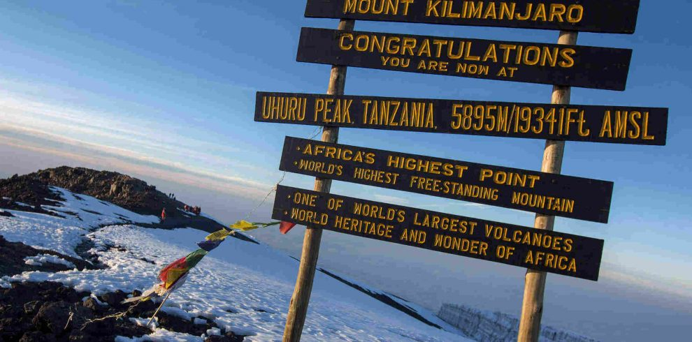 Tanzania Mt Kilimanjaro Summit Sign